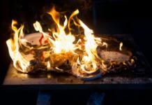 Сгоревший стол